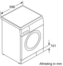 Maattekening SIEMENS wasmachine WM14E397NL