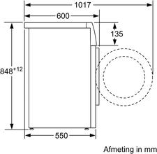 Maattekening SIEMENS wasmachine WM14N075NL