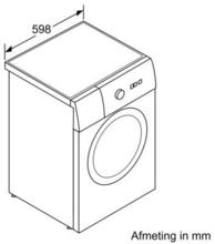 Maattekening SIEMENS wasmachine WM14T490NL