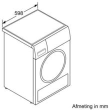 Maattekening SIEMENS droger warmtepomp WT47W590NL
