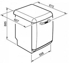 Maattekening SMEG vaatwasser limegroen BLV2VE2