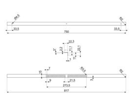 Maattekening SMEG afdekplaat KIT600SNL-9