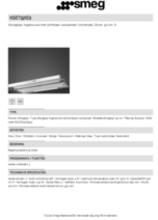 Maattekening SMEG afzuigkap vlakscherm KSET9XE2