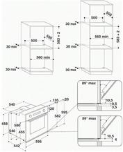 Maattekening WHIRLPOOL oven inbouw AKP735IX