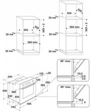 Maattekening WHIRLPOOL oven inbouw AKZ6220IX