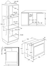 Maattekening WHIRLPOOL oven inbouw AKZM765IX