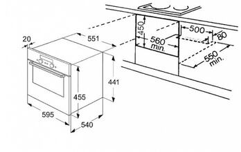 Maattekening WHIRLPOOL magnetron inbouw AMW503IX