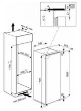 Maattekening WHIRLPOOL koelkast inbouw ARG749/A+/1