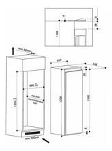 Maattekening WHIRLPOOL koelkast inbouw ARG852/A++ S