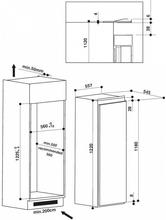Maattekening WHIRLPOOL koelkast inbouw ARG862/A++ S