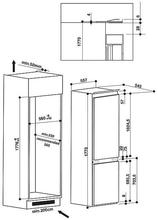 Maattekening WHIRLPOOL koelkast inbouw ART6711 A++ SFS