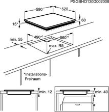 Maattekening ZANUSSI kookplaat inductie ZEI6840FBA