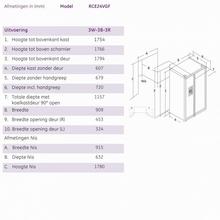 Maattekening ioMabe koelkast wit ORE24VGF 3W