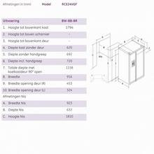 Maattekening ioMabe koelkast wit ORE24VGF 8W