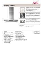 Product informatie AEG afzuigkap X59143MD0
