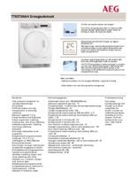 Product informatie AEG droger warmtepomp T75373NAH