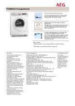Product informatie AEG droger warmtepomp T76389NAH