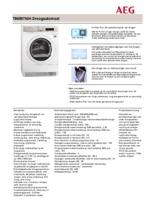 Product informatie AEG droger warmtepomp T86597NIH