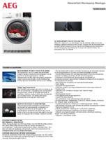 Product informatie AEG droger warmtepomp T8DBESSEN