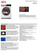 Product informatie AEG droger warmtepomp T9DEN87CC