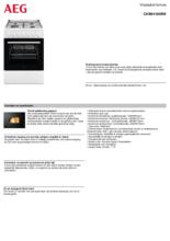 Product informatie AEG fornuis wit CKB64100BW