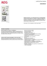 Product informatie AEG koelkast inbouw SCE618F3LF