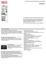 Product informatie AEG koelkast inbouw SCE818E5TC