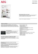 Product informatie AEG koelkast inbouw SDB412E1AS