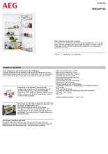 Product informatie AEG koelkast inbouw SFB510F1AS