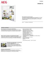 Product informatie AEG koelkast inbouw SFB688F1AS