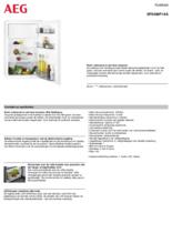 Product informatie AEG koelkast inbouw SFS488F1AS