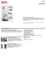 Product informatie AEG koelkast inbouw SKB512E1AS