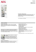 Product informatie AEG koelkast inbouw SKB618F1DS