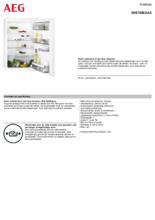 Product informatie AEG koelkast inbouw SKE788EAAS