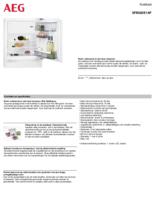 Product informatie AEG koelkast onderbouw SFB682E1AF