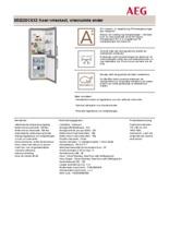 Product informatie AEG koelkast rvs S53220CSX2