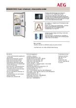 Product informatie AEG koelkast rvs S53420CNX2