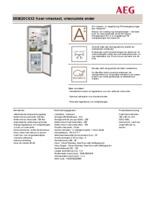 Product informatie AEG koelkast rvs S53620CSX2