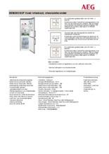 Product informatie AEG koelkast rvs S53630CSXF