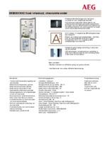 Product informatie AEG koelkast rvs S53830CNX2
