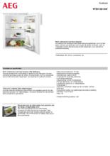 Product informatie AEG koelkast tafelmodel RTB415D1AW