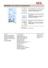 Product informatie AEG koelkast wit S52700DSW1