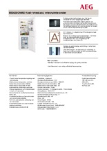 Product informatie AEG koelkast wit S53420CNW2