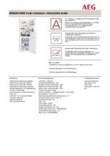 Product informatie AEG koelkast wit S53620CSW2