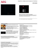 Product informatie AEG kookplaat inbouw inductie IKE74440CB