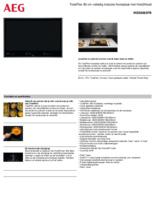 Product informatie AEG kookplaat inbouw inductie IKE86683FB