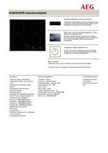 Product informatie AEG kookplaat inductie HK6542H0FB