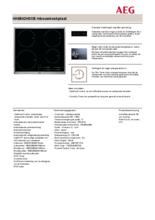 Product informatie AEG kookplaat inductie HK6542H0XB