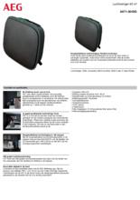 Product informatie AEG luchtreiniger AX71-304DG
