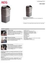 Product informatie AEG luchtreiniger AX91-404GY